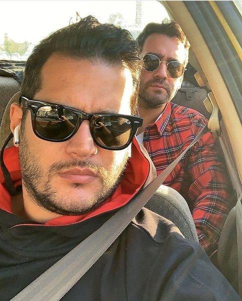 سیاوش خیرابی و دوست بازیگرش در تاکسی + عکس