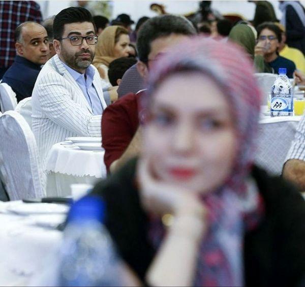 عکسی شکار شده از فرزاد حسنی و آزاده نامداری