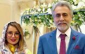 """بیژن امکانیان و بهاره حسینی در پشت صحنه سریال """"دل""""+عکس"""