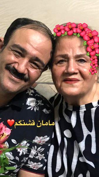 مهران غفوریان و مادرش + عکس
