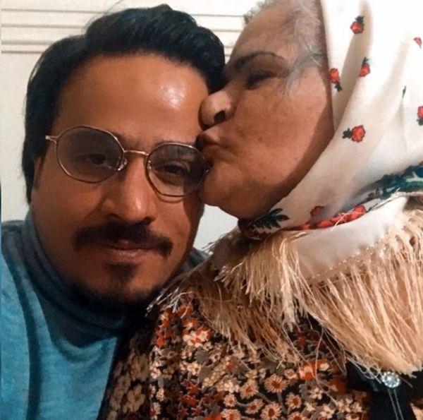 حسین سلیمانی و مادرش + عکس