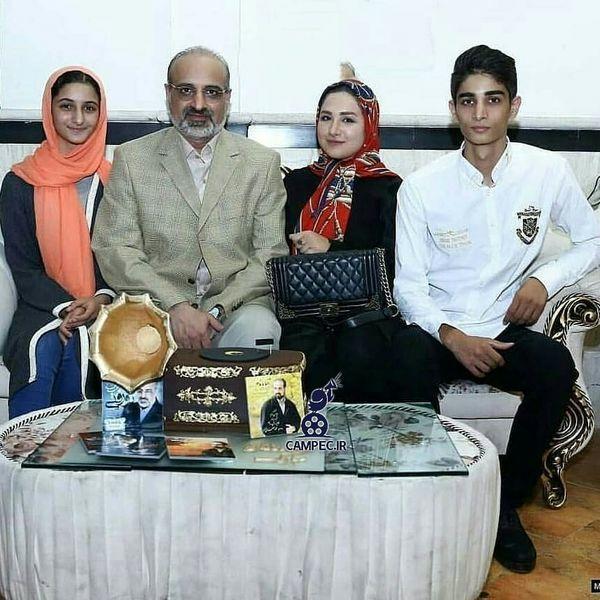 محمد اصفهانی و خانواده اش + عکس