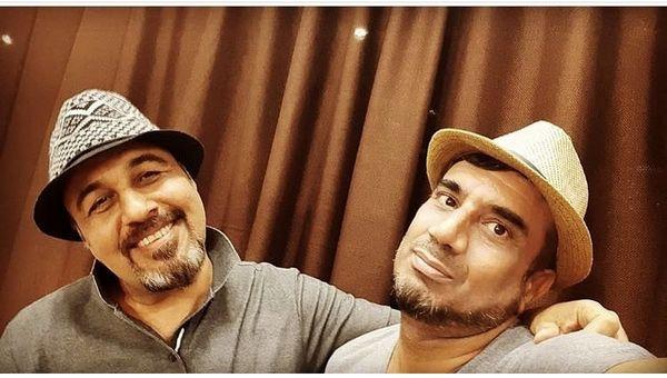 نصرالله رادش در کنار مرد طنز سینمای ایران + عکس