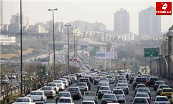 ترافیک سنگین در بزرگراه های تهران