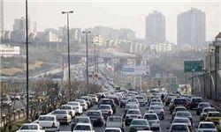 ترافیک در معابر خروجی تهران نسبت به روزهای قبل پرحجم تر است