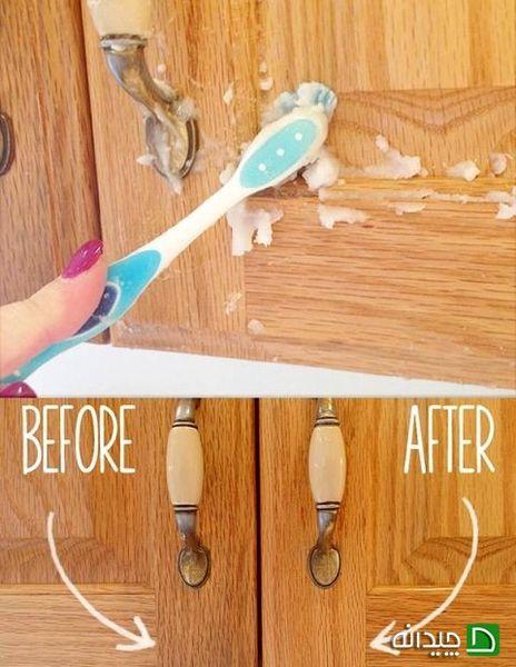 تمیز کردن کابینت چوبی