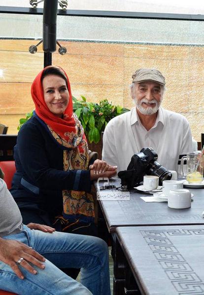 بازیگر مهربان بوی باران در کنار همسر بازیگرش+عکس