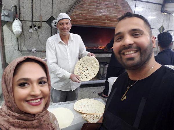 فریبا باقری در صف نانوایی محلشون + عکس
