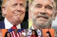 درگیری آرنولد با ترامپ+عکس
