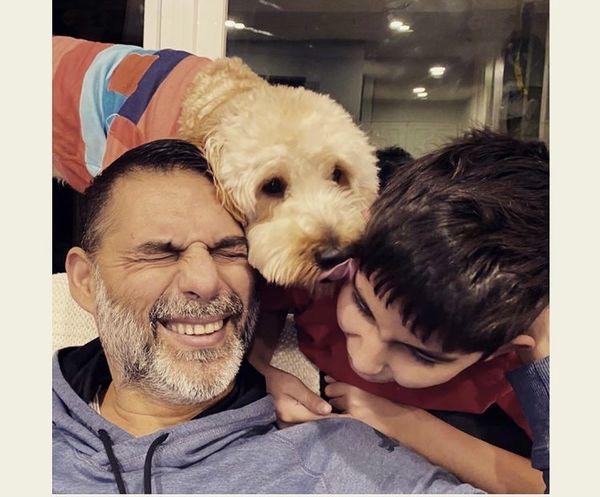 سگ بامزه خانگی پیمان معادی + عکس