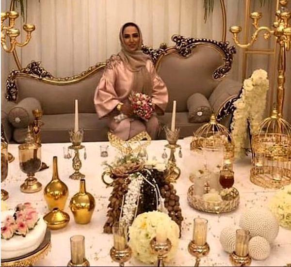تازه عروس سینمای ایران پای سفره عقد + عکس