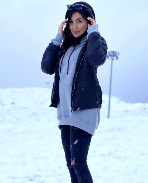 برف بازی امسال مریم معصومی + عکس