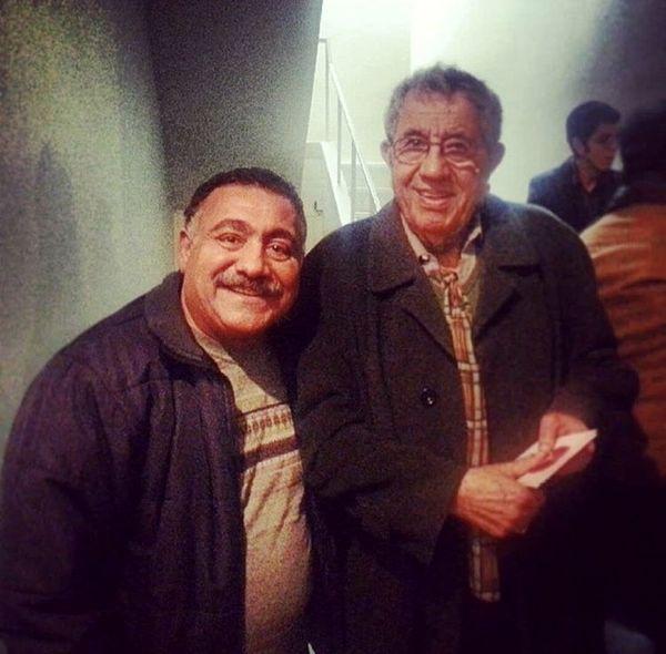 خسرو احمدی در کنار مرحوم عباس جوانمرد + عکس