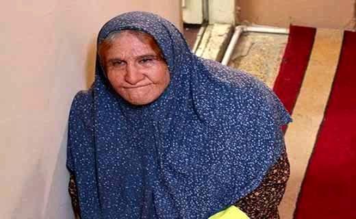 محسن تنابنده با گریم یک پیرزن + عکس