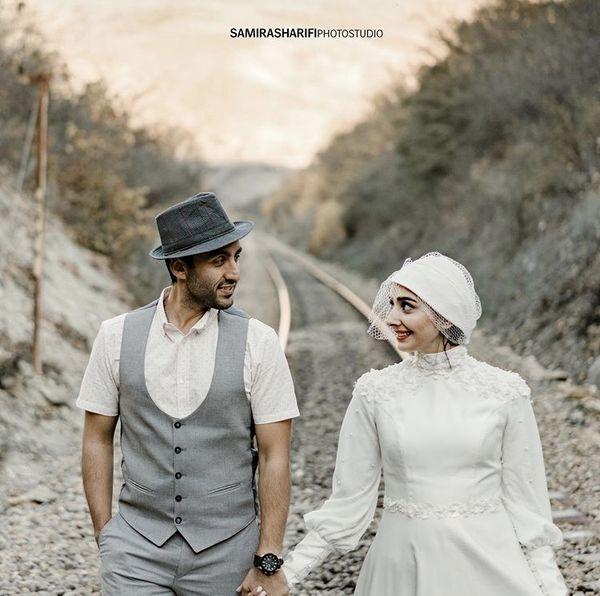 عکس عروسی دریا مرادی دشت و همسرش