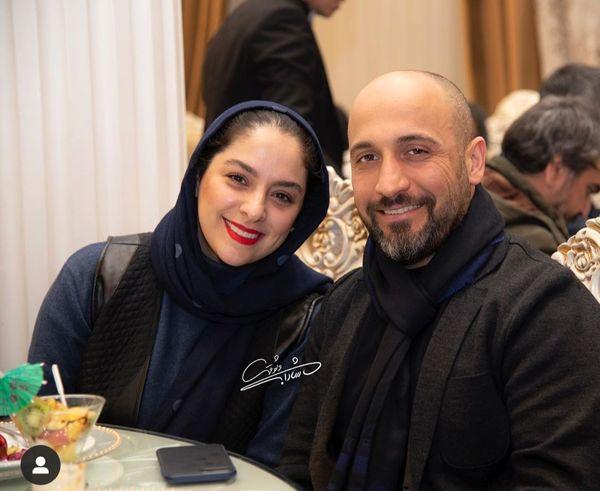 علی سرابی و همسرش + عکس