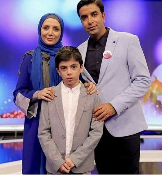 رویا میرعلمی در کنار همسر و پسرش + عکس