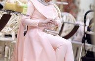 عکس لباس خاص خانم بازیگر در روز عقدش