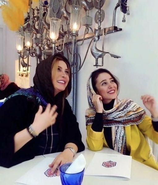 فریبا نادری و الناز حبیبی در یککافه + عکس