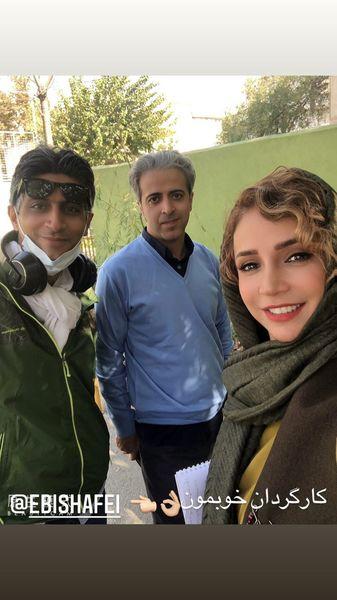 شبنم قلی خانی در کنار کارگردان کار جدیدش + عکس