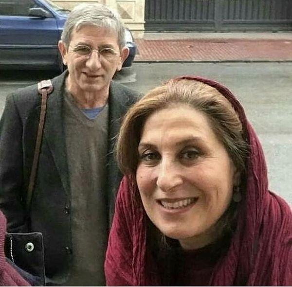 فاطمه معتمد آریا و همسرش در خیابان + عکس
