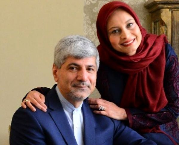 عکس مریم کاویانی و همسرش