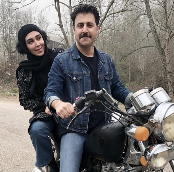 موتورسواری خانمبازیگر با هومنحاجی عبداللهی + عکس