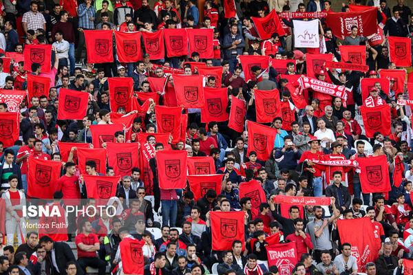 شعار هواداران تراکتورسازی علیه آجرلو و بازیکنان/ سائلام تشویق شد