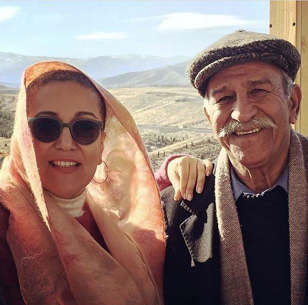 پانته آ بهرام در آغوش پدرش + عکس