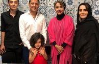 شبنم قلی خانی مهمان خانواده علیرضا فغانی در خارج از کشور+عکس