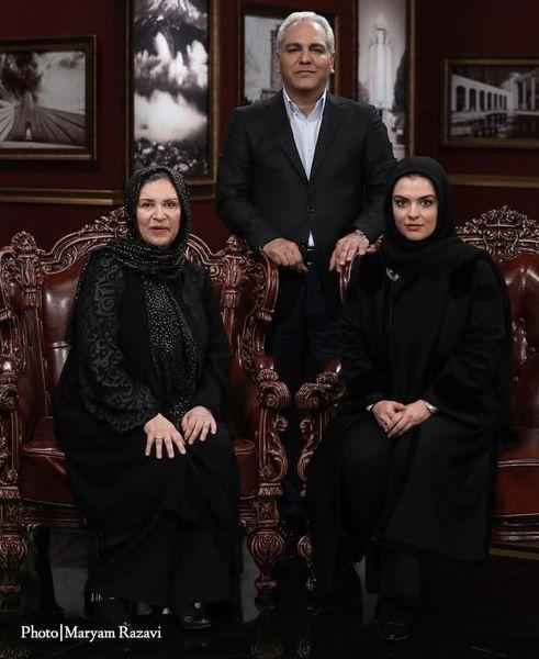رویا تیموریان و دخترش میهمان مهران مدیری + عکس