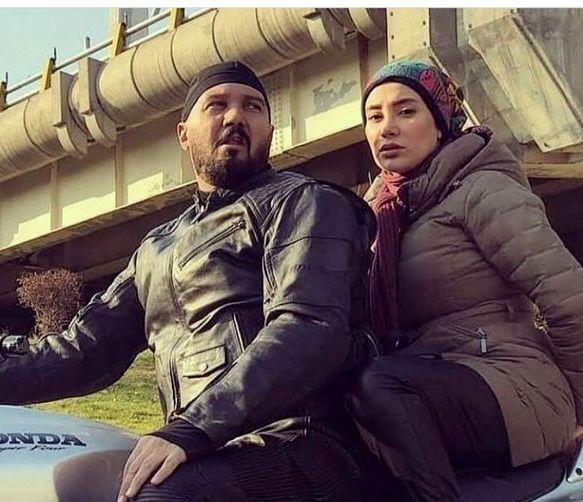 عکس جنجالی موتورسواری خانم و آقای بازیگر