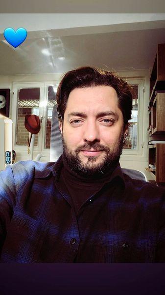 تیپ بهرام رادان در محل کارش + عکس