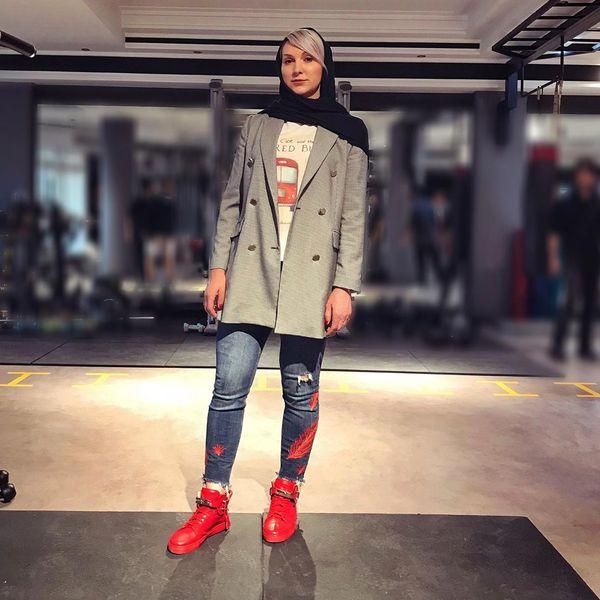 تیپ خاص خانم ورزشکار بلاروس معروف در ایران+عکس