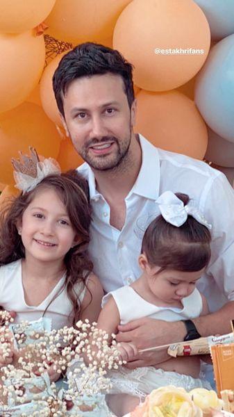 شاهرخ استخری و دخترانش + عکس