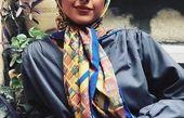 خانم بازیگر با تیپ ساده و صمیمی