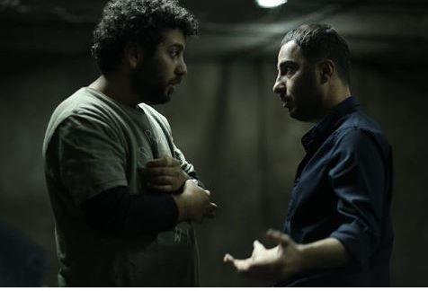 سعید روستایی و نوید محمد زاده در پشت صحنه «متری شش و نیم»/عکس