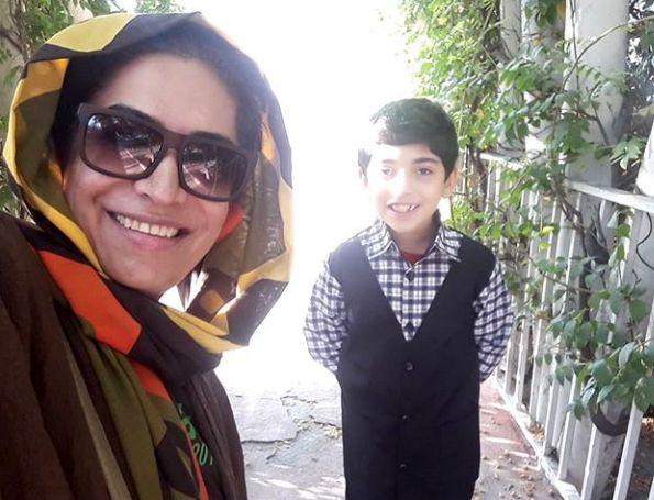سلفی ساناز سماواتی با پسر مرتبش+عکس