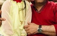 مهران مدیری در کنار دختر کوچولوی سریال هیولا
