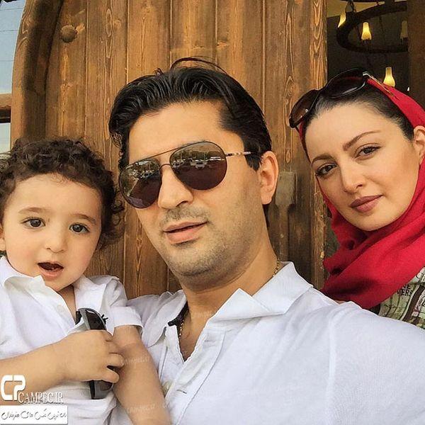 عکسی زیبا از شیلا خداداد و همسر و فرزندش
