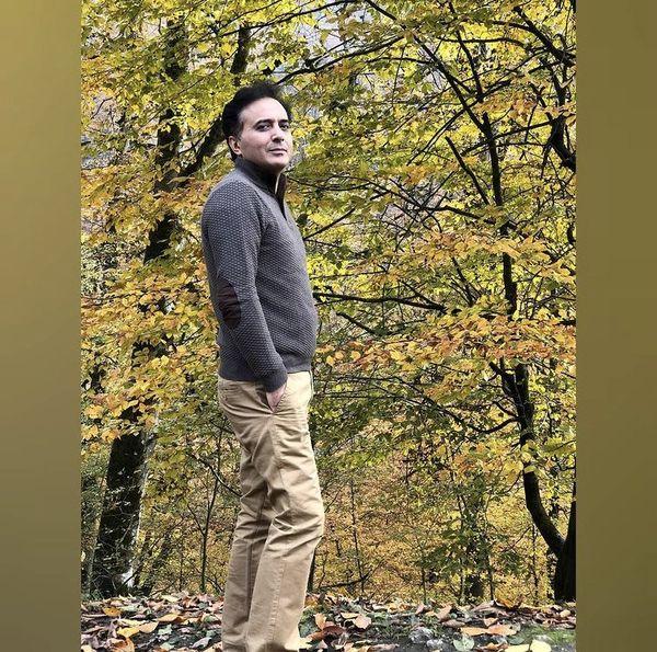 مجید اخشابی در دل هوای پاییزی + عکس