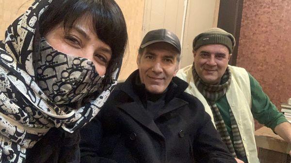 سیما تیرانداز در کنار زوج هنری معروف + عکس