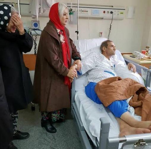 رفتار همسر سابق حسین محباهری با او در بیمارستان
