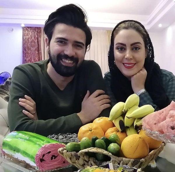 نیلوفر شهیدی در کنا همسرش + عکس