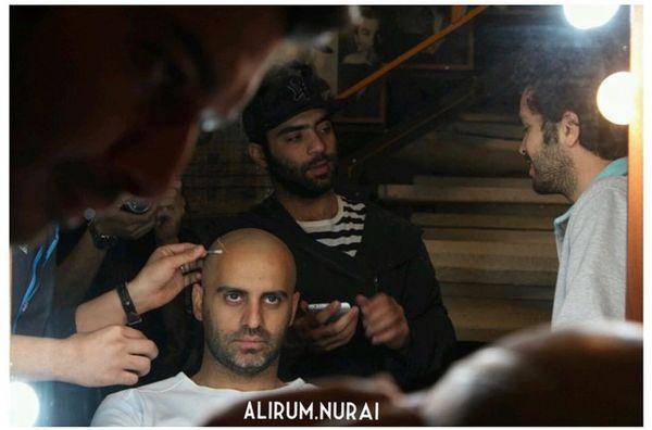علیرام نورایی در حال گریم + عکس