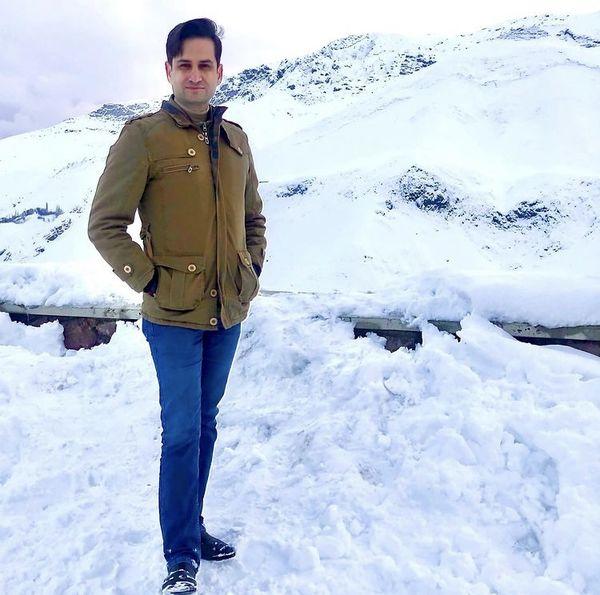 پویا امینی در دل کوه های برفی + عکس