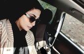 ماشین گردی مریم معصومی با ژست جدی اش+عکس