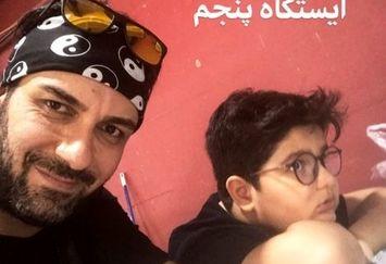 بازیگر سال های دور از خانه و پسرش در توچال+عکس