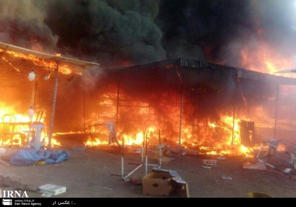 پرونده قضایی برای آتش سوزی بازارچه موقت کرج  تشکیل شد