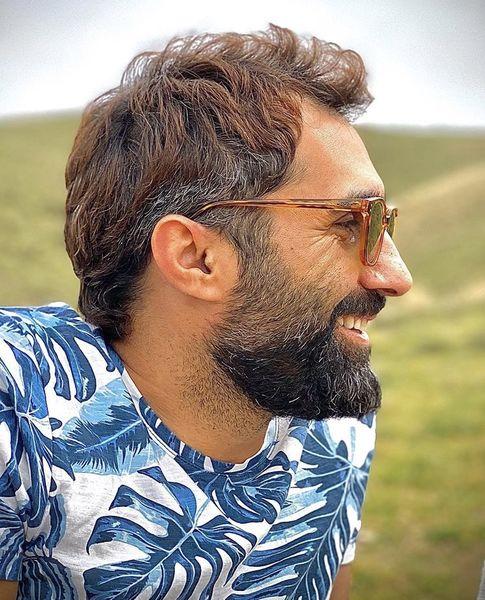 حال خوب هادی کاظمی در طبیعت + عکس